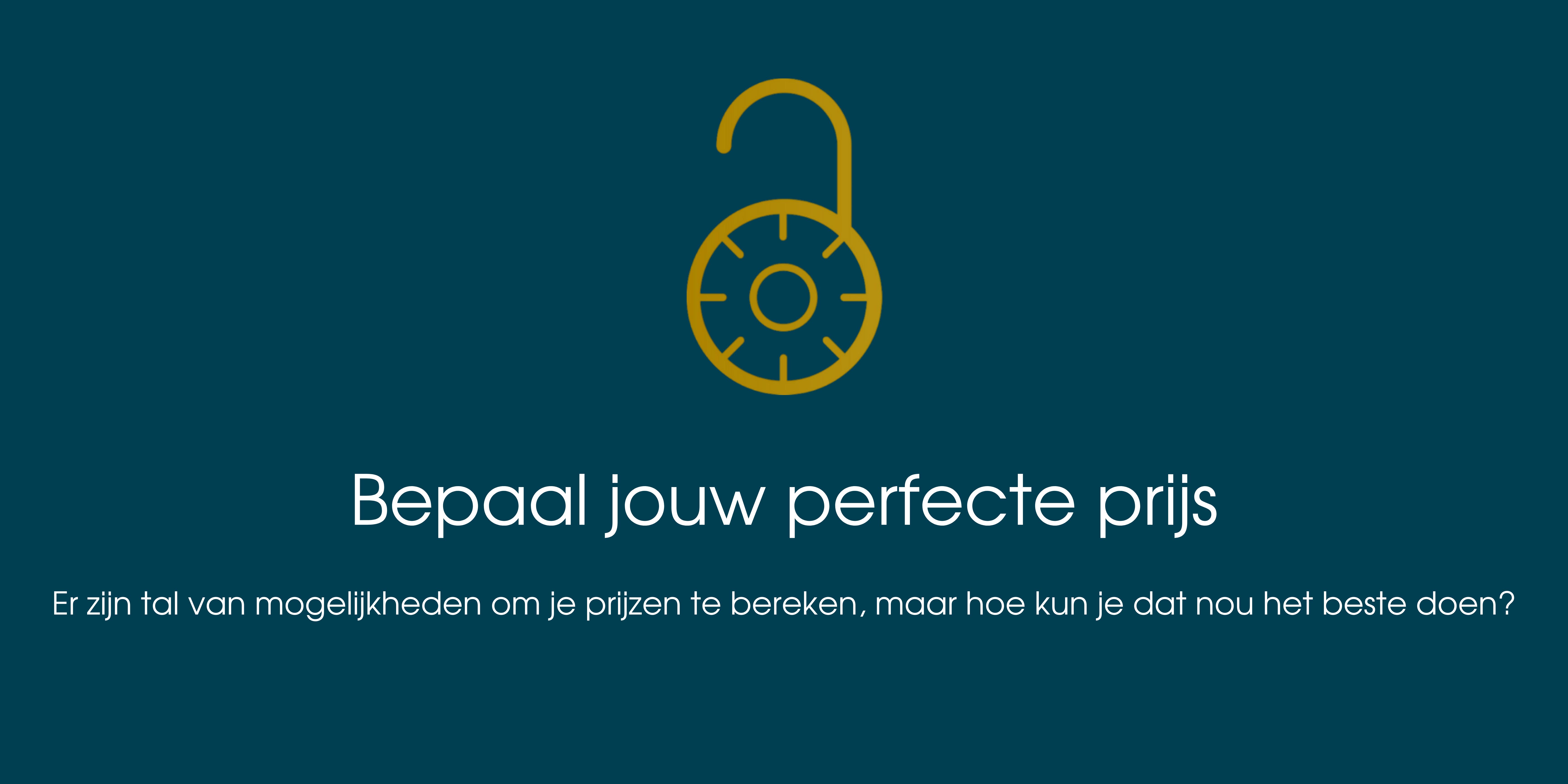 Bepaal jouw perfecte prijs